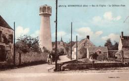 GONDREVILLE --Rue De L'église Et Chateau D'eau --(Cachet Du 223 Eme De Nanteuil Le Haudouin ) - Frankreich