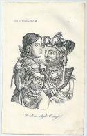 1830ca COSTUME DEGLI OSAGI Acquatinta Ferrario Osage Nation Native Americans - Altre Collezioni