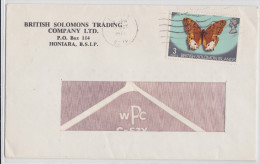 BRITISH SOLOMON ISLANDS - AIR MAIL COVER HONIARA 1973 - PAPILLON - BUTTERFLY - British Solomon Islands (...-1978)