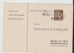 DTB067b/  Deutsch Reichenau, Befreiungsstempel 15.11.38 - Ocupación 1938 – 45