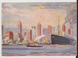 W-See008/ Bremen-Nordamerika Dienst. Dampfer Columbus 1927 - Briefe U. Dokumente