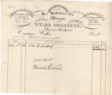 21 BEAUNE FACTURE 1840 Epicerie Sucre Dragées TITARD COOSENS Rue Madeleine - M9 - Frankrijk