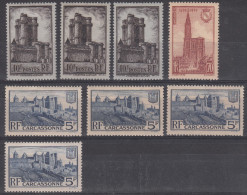 France (1938) Y/T Carcassonne N° 392 X 4 Et Donjon Vincennes N° 393 X 3 Neufs * + Cathedrale Strasbourg N° 443 Neuf ** - Nuovi