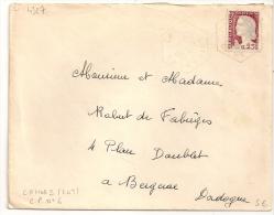 HEXAGONAL CAHORS (LOT) C P N° 6 Sur Enveloppe. - Postmark Collection (Covers)