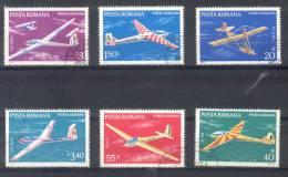 ROUMANIE RUMANIA COMPLETE SET YVERT NRS. AERIEN 245-50 YEAR 1977 OBLITERES - 1948-.... Repúblicas