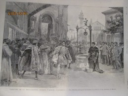 1896 Le Theatre De La Renaissance    Scene De   LORENZACCIO SIRE MAURICE - Vieux Papiers