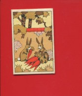 TRES JOLI MINI CALENDRIER PETIT FORMAT DE POCHE  LAPIN CAROTTES  1938 MAROQUINERIE PARAPLUIE PROBST PARIS AVENUE ITALIE - Calendars
