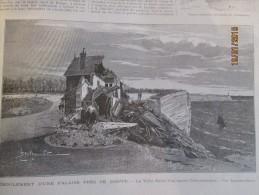 1896 Eboulement D Une Falaise   Pres De   DIEPPE - Vieux Papiers