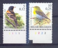 Belgie - 2000 - OBP - **  2921 P8a - PL 1 -  2936 P8a   - PL 2 - Vogels Andre Buzin - 1985-.. Birds (Buzin)
