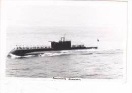 Batiment Militaire Marine Chlil Sous Marin Classe Odin Al Simpson Coque S Avec Equipage Signee JC Bowers - Boats