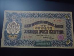 1920 BULGARIA VERY VERY RARE 1000 LEVA ZLATNI ( P 33 )  - XF+ - - Bulgaria