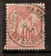 011426 Sc 74 PEACE AND COMMERCE - SAGE TYPE I -40c DBL CDS NANTES // LOIRE INFERIEURE [NOW DEPT.OF LOIRE ATLANTIQUE] - 1876-1878 Sage (Type I)