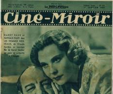 CINE MIROIR Année 1937 N° 613 BAUR PALEY Les Hommes Nouveaux LHERBIER OLYMPIA FARMER ARNOLD Le Vandale - Cinema/Televisione