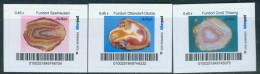 Biber Post 3 Mkn Achate (10) (3 X 0,45) Gezähnt, Langer UPOC Neues Logo A729 - Privées & Locales