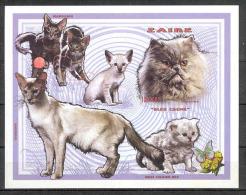 Cats COB BL119 Imperforated MNH - Zaïre
