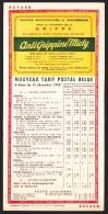 BUVARD - VLOEIBLAD. TARIF POSTAL BELGE / POSTTARIEVEN 15-12-1948 - Antigrippine. Grippe Cachets - Postal Rates