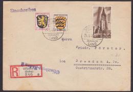 Baden Offenburg (Mi. 13) 1 M Freiburger Münster Auf Portogenauem Doppelbrief Mit Allgem. Ausgabe Französische Zone - Zona Francesa