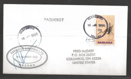 1996 Paquebot Cover, Bahamas stamp mailed in Cleveland UK