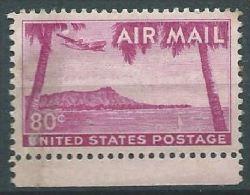 USA 1952-53 AIRMAIL Hawaii  80c MNH SC C46 MI 626 SG PA45 YV A1005 - Luftpost