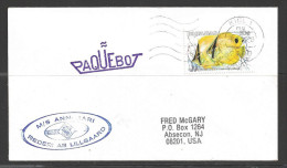 1990 Paquebot Cover, Bahamas stamp mailed in Kiel, Germany