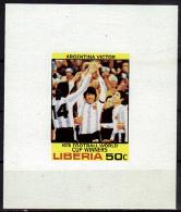 LIBERIA    EPREUVE DE LUXE  N°   * *  NON DENTELE  Cup 1978   Football  Soccer Fussball - Copa Mundial