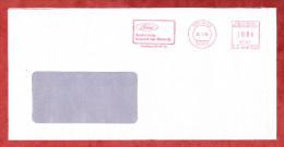 Brief, Pitney Bowes E11-0120, Ford Soviel Auto Braucht Der Mensch, 80 Pfg, Koeln 1989 (71062) - [7] Repubblica Federale