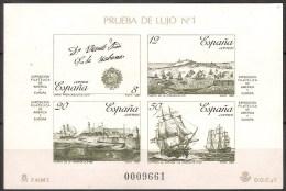 España Prueba De Lujo 12 ** America Y Europa. 1987. Suelta (Verde) - Blocs & Feuillets