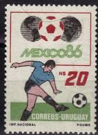 URUGUAY  N° 1181   * *    Cup 1986  Football Soccer Fussball - 1986 – Mexico