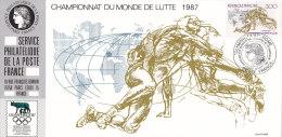 FRANKREICH 2621 Auf Ausstellungskarte Des Service Philatelique Des PTT Zur OLYMPHILEX ´87 Rom, Ringen - Documents Of Postal Services