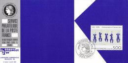 FRANKREICH 2697 Auf Ausstellungskarte Des Service Philatelique De La Poste Zur MILANOFIL ´89, Mailand - Documents Of Postal Services