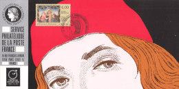 FRANKREICH 2898 Auf Ausstellungskarte Des Service Philatelique De La Poste Zur 9.Int. Briefmarkenmesse Essen 1992 - Documentos Del Correo