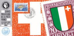 FRANKREICH 2903 Auf Ausstellungskarte Des Service Philatelique De La Poste Zur REGIOPHIL ´92 Neuchâtel - Documents Of Postal Services