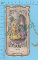 Antique Carte Pointage Jeux Bridge Tally ( Contour Doré, Pointing Card Gold Print Die Cut 1860 Dress Style ) Recto/Verso - Cartes à Jouer