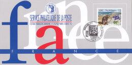 FRANKREICH 3145auf Ausstellungskarte Des Service Philatelique De La Poste Zur STAMP ´96 Wembley, Murmeltier - Documents Of Postal Services