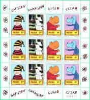 S POLAND 2011.05.27 Comics - Dog, Hippopotamus, Roses  - Minisheet MNH ** - Ongebruikt