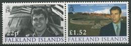 Falkland 2002 Besuch Von Prinz Andrew 863/64 ZD Postfrisch - Falklandeilanden