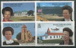 Falkland 1996 Besuch Von Prinzessin Anne 664/67 Postfrisch - Falklandinseln