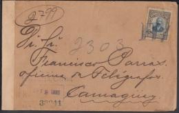 1910-H-28 CUBA. REPUBLICA. SOBRE CERTIFICADO FRANQUEADO CON 10c MAYIA RGUEZ. MARCA DE PAQUETE. 1912 - Cuba