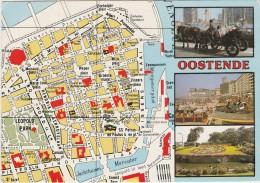 AK MAP, Citymap, Stadtplan **Oostende** - Maps