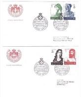 ORDER OF MALTA 1966  FDC  On 2 Envelope  San Giovanni Battista Sassone Cat.   N° 19/22  Very Fine - Malte (Ordre De)