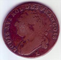 Constitution - 12 Deniers Type François.1793 L - 1789-1795 Monnaies Constitutionnelles