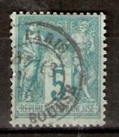 011433 Sc 78  PEACE AND COMMERCE - SAGE TYPE II - 5c DBL CDS  PARIS //[ PL. DE LA] BOURSE - 1876-1878 Sage (Type I)