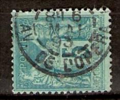 011434 Sc 78  PEACE AND COMMERCE - SAGE TYPE II - 5c DBL CDS  [PARIS] //AV. DE L'OPERA - 1876-1878 Sage (Type I)