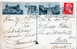 CA RTOLINA POSTALE -ROMA-VIA APPIA -TUMUL I DEI TRE CURAZI-20-8-1935 - 1900-44 Victor Emmanuel III.
