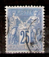 011436 Sc 81 [x2]  PEACE AND COMMERCE - SAGE TYPE II - 25c - 1876-1878 Sage (Type I)