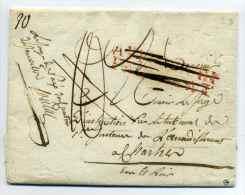 MP 27 TOURY + Contreseing Juge De Paix Du Canton De Janville + Affranchi Par Etat (barré) / Dept 27 Eure Et Loir / 1815 - 1801-1848: Précurseurs XIX