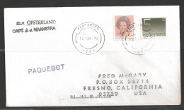 1992 Paquebot Cover, Netherlands Stamps Mailed In Santander, Spain - Period 1980-... (Beatrix)