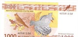 D8 1000 F Nouvelle Caledonie Noumea Billet IEOM Monnaie Banknote Cagou Perruchetortue Raie Manta Neuf UNC - Banknotes
