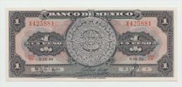 Mexico 1 Peso 1954 UNC NEUF Pick 56b  56 B Series EK - Mexico