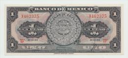 Mexico 1 Peso 1954 UNC NEUF Pick 56a  56 A Series EF - México